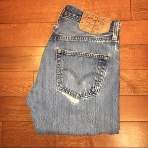 Levi's 501 Vintage Distressed High Rise Wedgie Fit